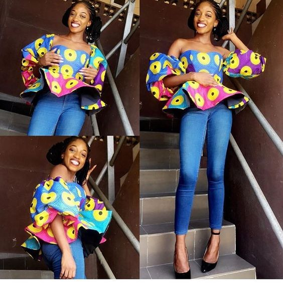 latest Ankara Peplum Top Styles And Designs