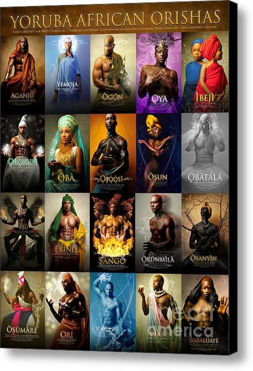 Yoruba African Orishas Poster Canvas Print / Canvas Art By James C Lewis