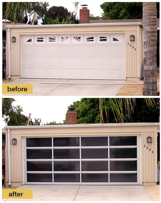 Midway Through A Mid Century Modern Makeover. Replacing The Original Steel  Door With A Clopayu0027s Contemporary Avante Collection Glass Garage Door Isu2026