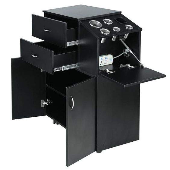 Coria salon trolley black salon pinterest for Salon trolley