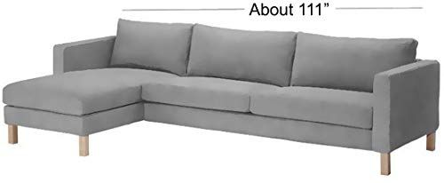 Dense Cotton Karlstad Three Seat Sofa And Chaise Lounge Cover