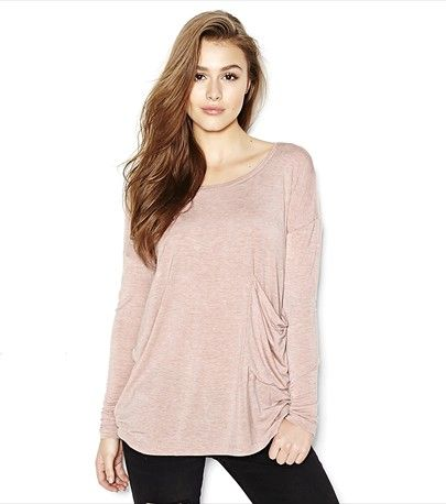 DROP SHOULDER TUNIC TEE 24.90