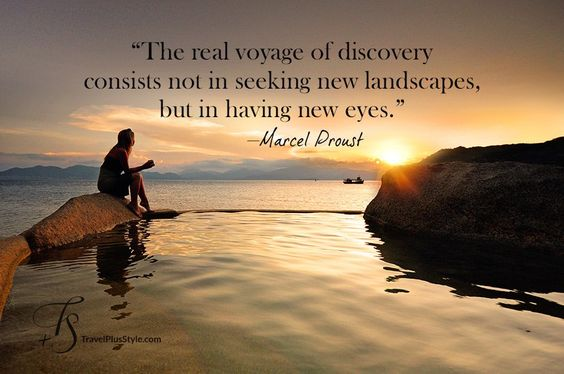 New Eyes Quotes Image Quotes At Hippoquotes Com: The Real Voyage Of Discovery Consists Not In Seeking New