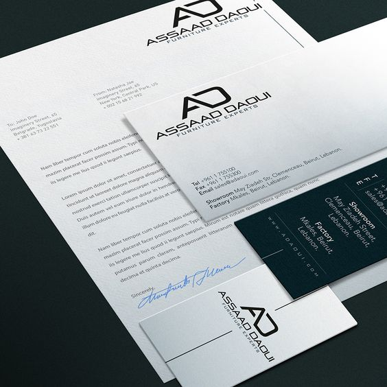 Assaad daoui logo design business card letterhead envelope assaad daoui logo design business card letterhead envelope reheart Gallery