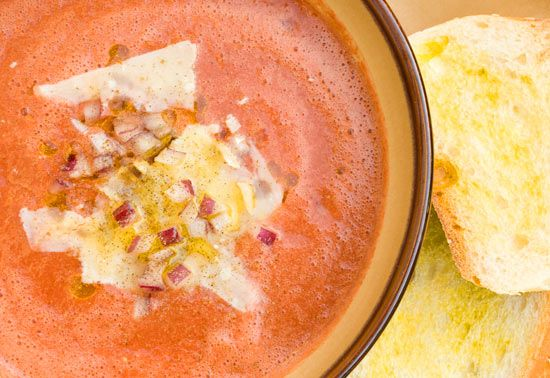 Gazpacho - 2 pts + (A traditional Spanish cold soup)