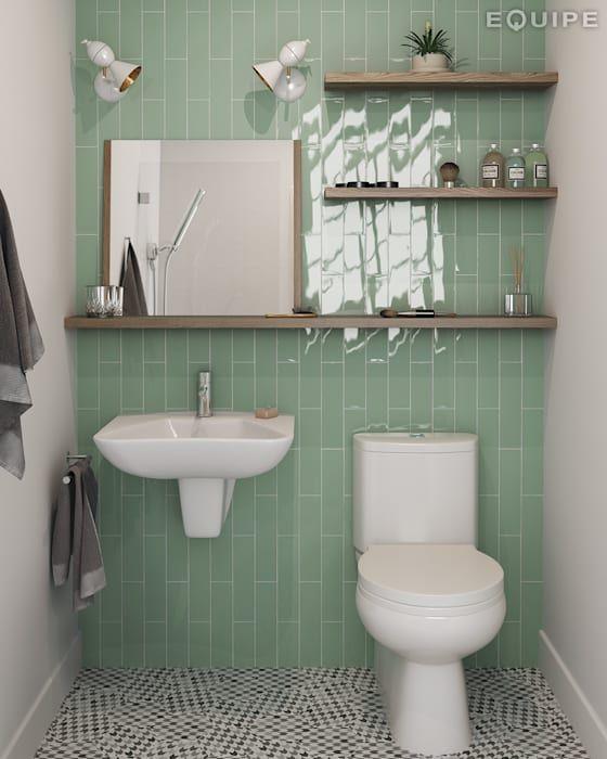 Moderne Badezimmer Von Homify Modern Keramik Grune Badfliesen Badezimmer Holzboden Badezimmer