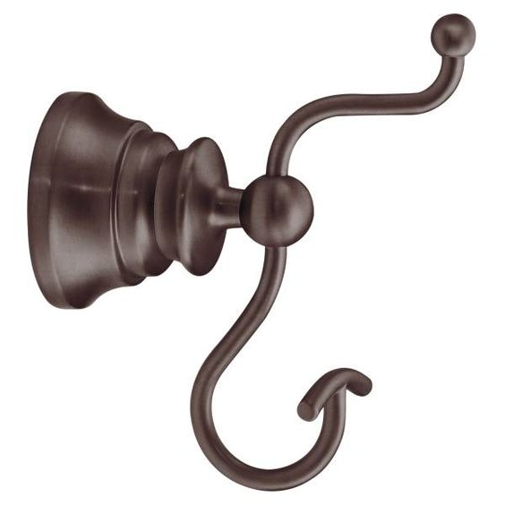 Waterhill oil rubbed bronze double robe hook - YB9803ORB