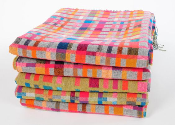 colored throw blankets