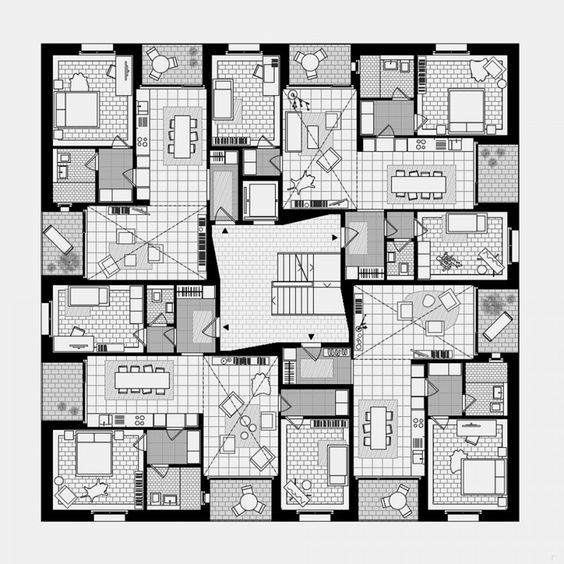 Https Www Pinterest Fr Pin 521713938079953259 Residential Building Plan Residential Architecture Apartment Residential Architecture Plan