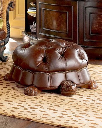 Turtle Ottoman- Anyone who has even a marginal knowledge of the Tulip Period would find this both humorous and topical.