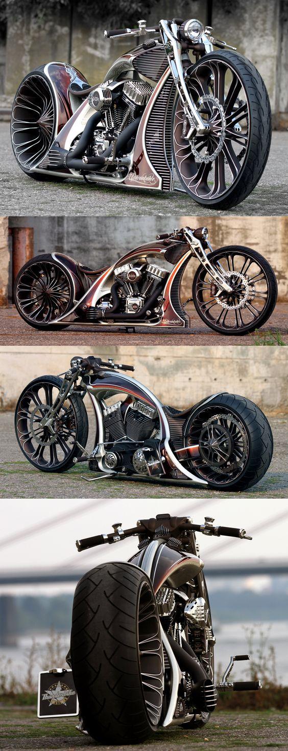 Thunderbike Unbreakable custom motorcycle with Harley-Davidson Screamin Eagle engine