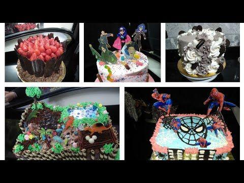 تزيين كيك احلى مجموعة تورت لاعياد ميلاد الاطفال والكبار و افكار جديدة Youtube Desserts Food