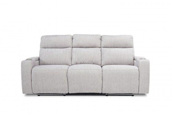 Rhys 2 Power Sofa In Pewter Sofa Comfortable Seating Room Setup