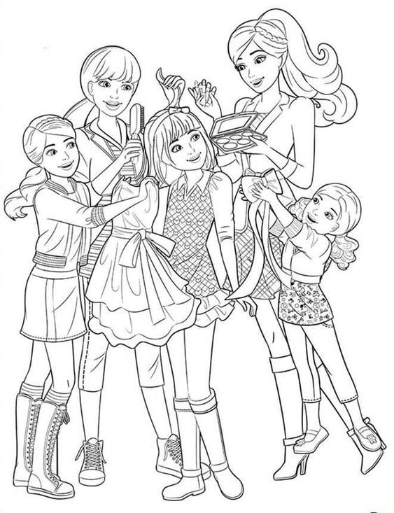 BARBIE COLORING PAGES Barbie Coloring Pages, Princess Coloring Pages,  Family Coloring Pages