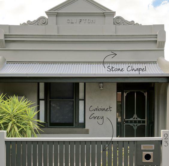 Gray Exterior Color Schemes #15: Gray Exterior Color Schemes | Exterior: Cool Light Gray Modern Outdoor Color Scheme With Fancy