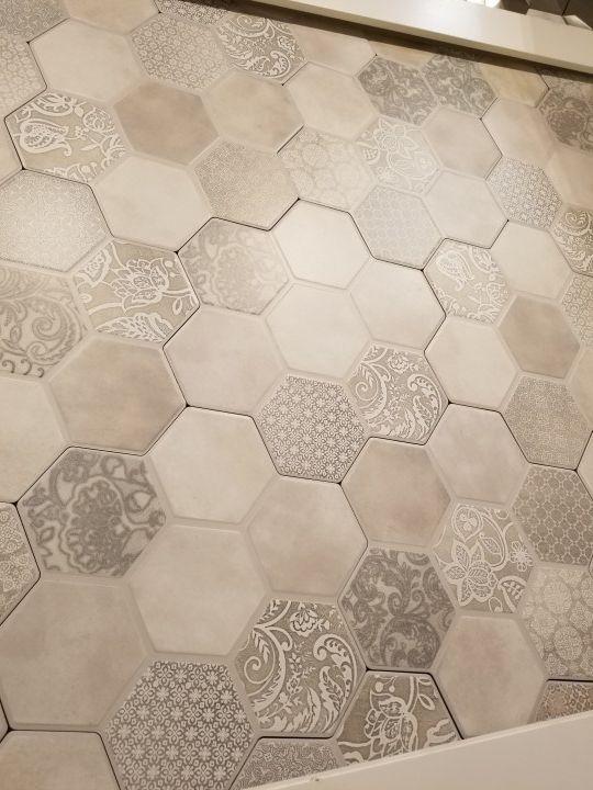 hexagon tile flooring emser virtue