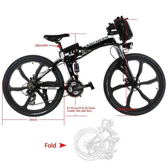 26 Inch Wheel Folding Electric Mountain Bike With Super