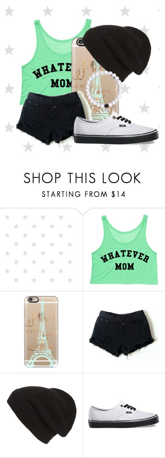 """""""Just an ordinary day✨"""" by amhsoftballqueen ❤ liked on Polyvore featuring Casetify, Retrò, Phase 3, Vans and Everest"""