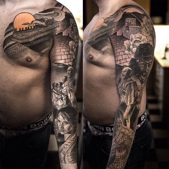 97 Unbeatable Chest Tattoos For Men: Tattoo By Niki Norberg At Wicked Tattoo In Göteborg