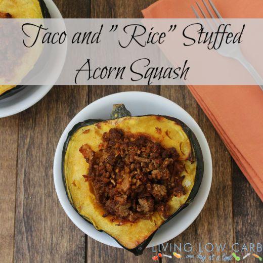 acorn stuffed acorn squash paleo rice beef squashes cauliflower rice ...