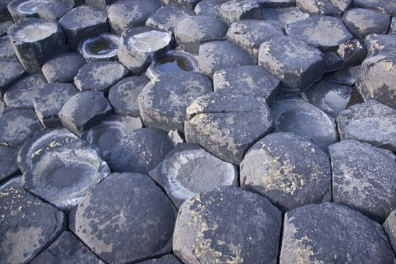 Hexagonal pavement of the Giant's Causeway.