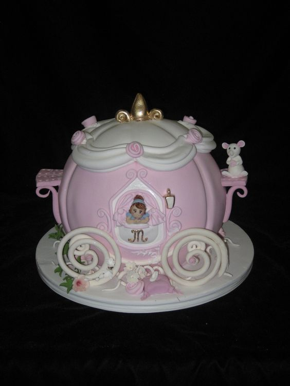 how to make cinderella carriage cake