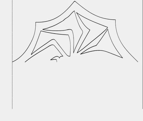 DIY Nightmare Before Christmas spider snowflake template - snowflake template