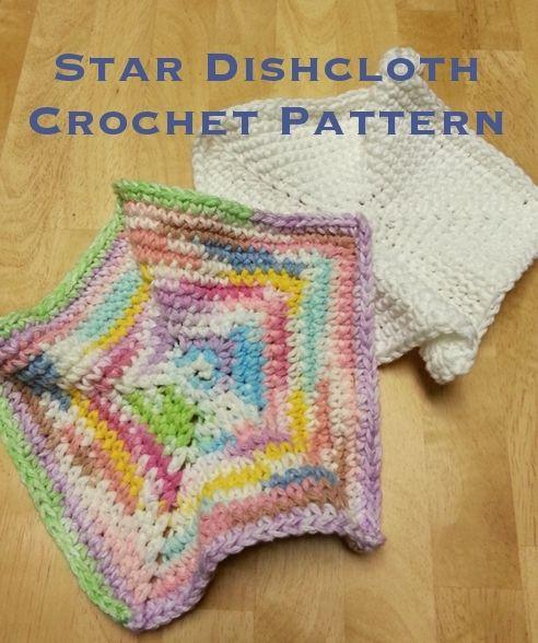 Star Dishcloth Crochet Pattern Not Your Regular Dishcloth