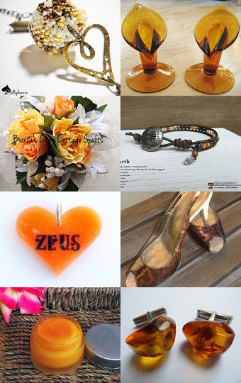 Amber n' Love by D' LaGrace on Etsy--Pinned with TreasuryPin.com
