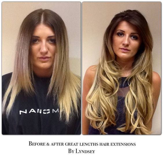 great lengths hair extensions before and after great