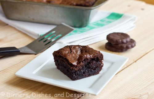 Mint brownies, Thin mints and Brownies on Pinterest