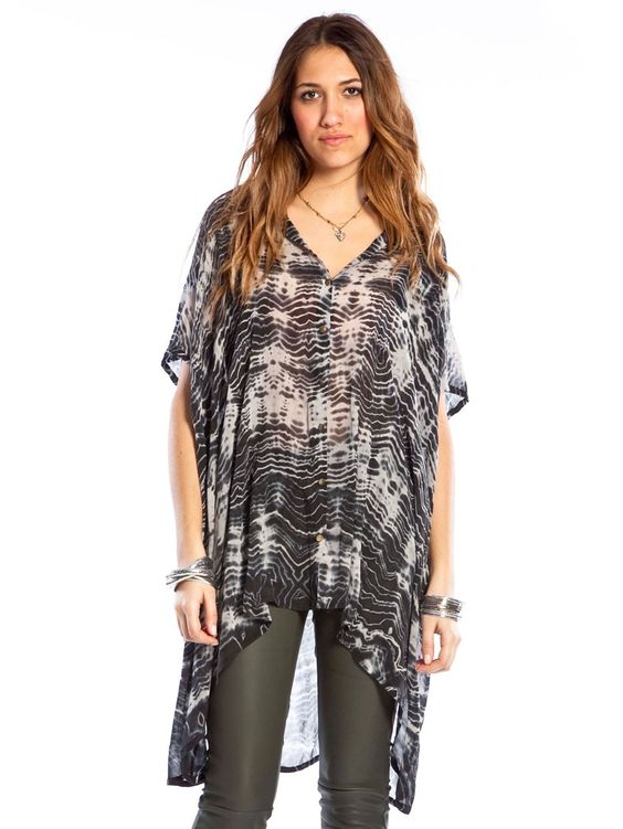 Jade Sheer Tunic