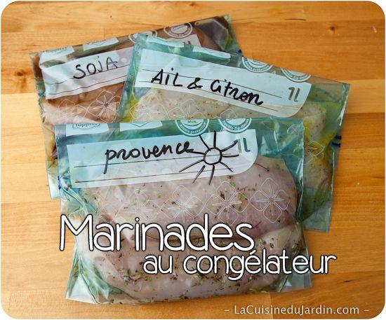Poulet congelé déjà mariné   http://www.lacuisinedujardin.com/recette/marinade-poulet-congelateur