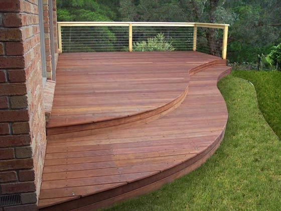 Waves Decking Building A Deck Curved Deck Wood Deck Designs
