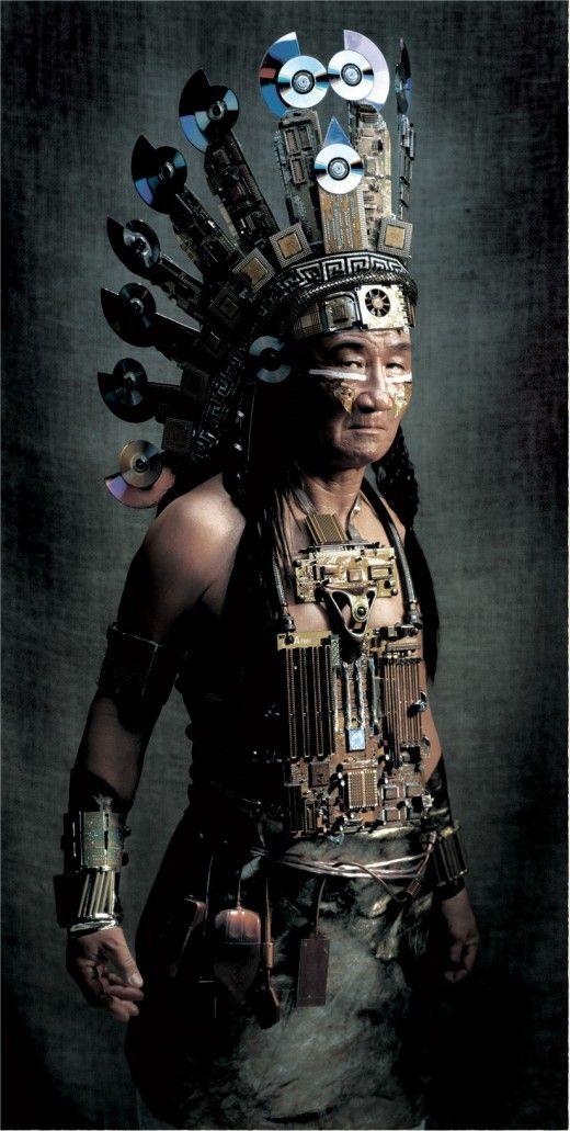 Cyberpunk Native American: