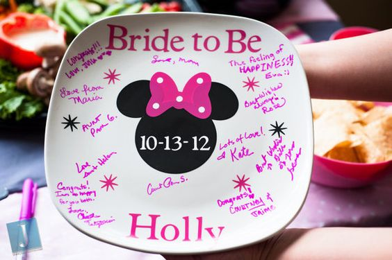 Minnie mouse disney wedding signature plate by BaberzCouture, $18.50