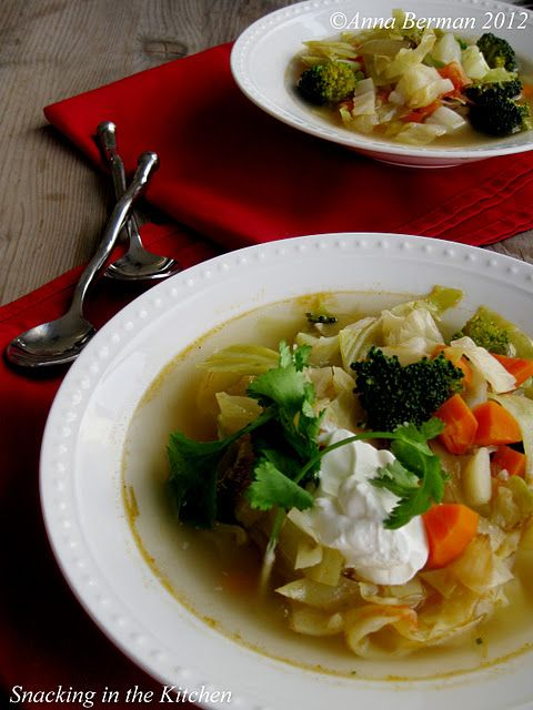 Vegetarian Cabbage and Potato Soup with Jalapeno and Lime #vegetarian #soup