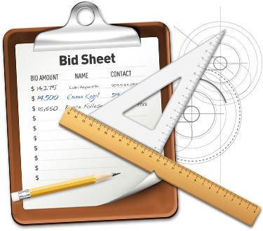 Link to download free professional bid sheets for your for Silent auction catalog template