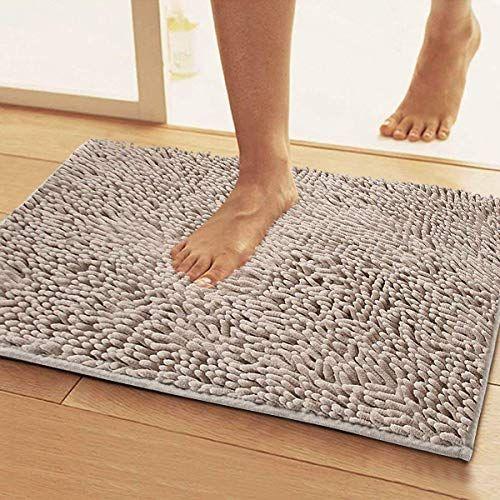 Microfiber Bath Rugs Chenille Floor Mat Ultra Soft Washable