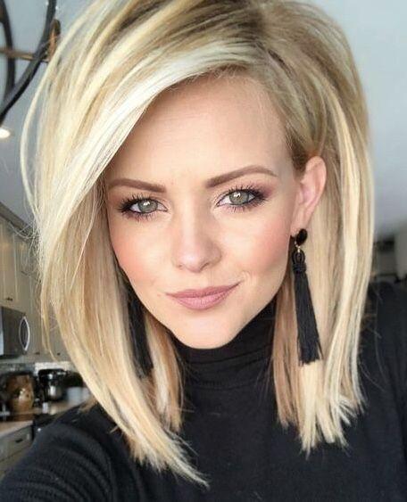 Trending Hairstyles 2019 Cute Medium Length Hairstyles Evesteps Hair Styles Medium Hair Styles Long Bob Hairstyles