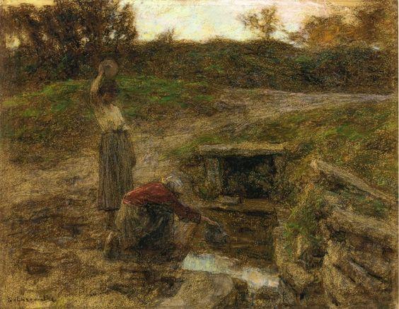 Leon Augustin L'Hermitte ~ Naturalist painter