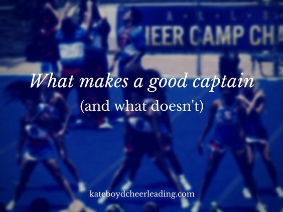 When I was a cheerleader in high school, I desperately wanted to be the captain. At that time, we had to write essays and have an interview with the principal ... and I rememberthat I took an unco...