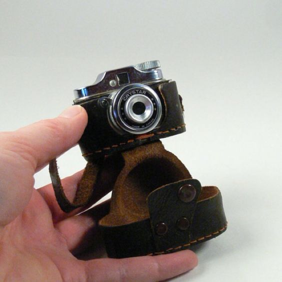 Vintage 1950's miniature working camera - I won one of these at the Arizona State Fair.  It had tiny rolls of film and I actually got them developed.  The photos were about the size of a postage stamp.