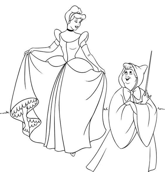 Dibujos para colorear de las princesas Disney  Disney