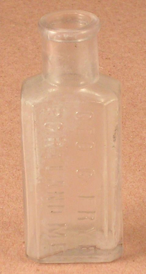 Vintage Small Clear Glass Bottle Marked Geo. C. Frye Portland, ME.