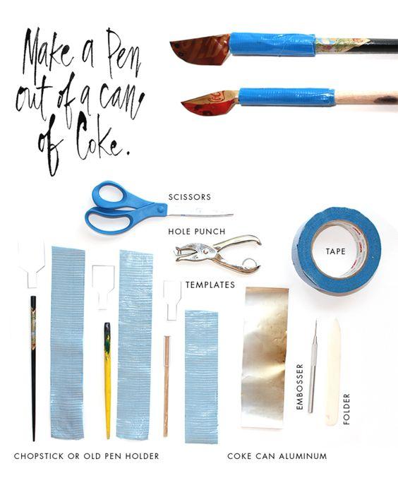 Stephanie Fishwick Calligraphy Coke Can Pen Diy