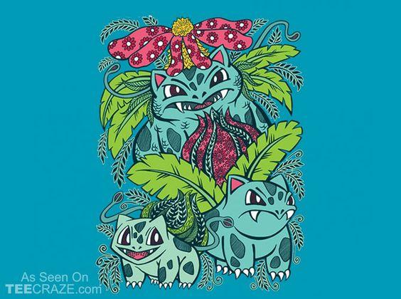 Evolution Of A Grass Type T-Shirt - http://teecraze.com/grass-type-t-shirt/ -  Designed by OfficeInk    #tshirt #tee #art #fashion #clothing #apparel