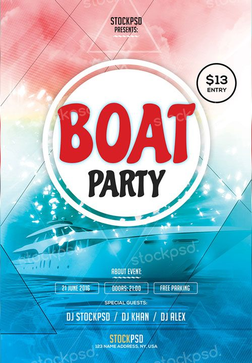 Cruise \/ Yacht Party Flyer Yacht party, Party flyer and Cruises - summer flyer template