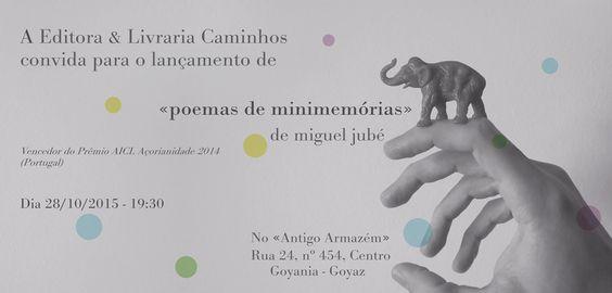 Livraria Caminhos lança o jovem poeta Miguel Jubé, goiano premiado além-mar, em Portugal.