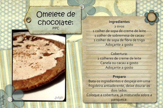 A última dieta da minha vida: Omelete de Chocolate LowCarb: PPC